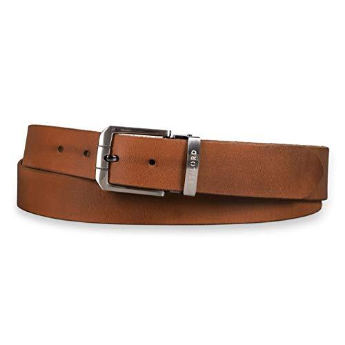 fd8fb68039074d STILORD Ledergürtel Braun Männer Business oder Jeans Herren Gürtel aus  echtem Büffel-Leder Universal