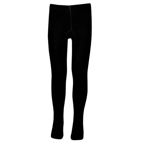 Supersox Girls Combed Cotton Tights - Pack of 1 (8-10 Years, Black)