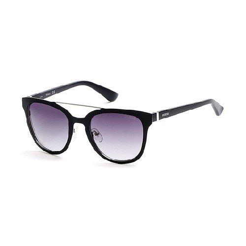 Guess Unisex-Erwachsene GU7448 02B 52 Sonnenbrille, Schwarz (Nero Opaco/Fumo Grad),