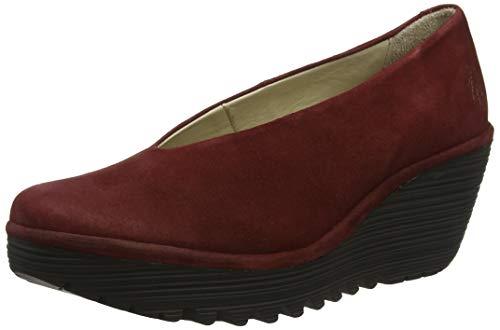 Fly London Yaz, Zapatos de tacón para Mujer, Rojo Dk Red 237, 40 EU