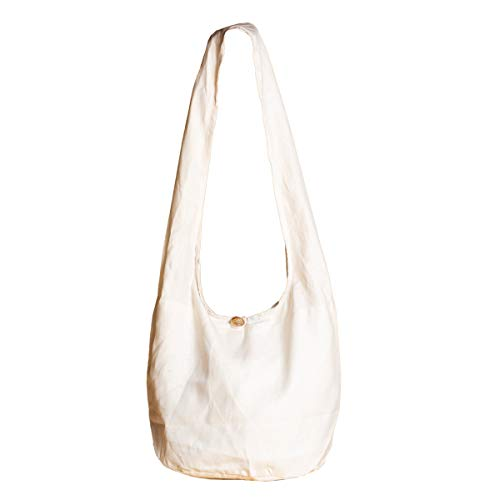 PANASIAM ShoulderBag, HEMP, cream-white in M - Beige Stoff Handtaschen