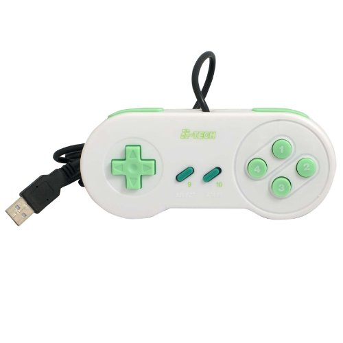 2-TECH USB Gamepad ergonomisch SLIM, SNES Style (Pc Für Controler Snes)