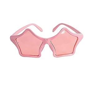 Carnival Toys - Gafas con Estrella, Color Rosa