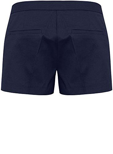oodji Ultra Damen Baumwoll-Shorts Basic Blau (7900N) ... ff564954be