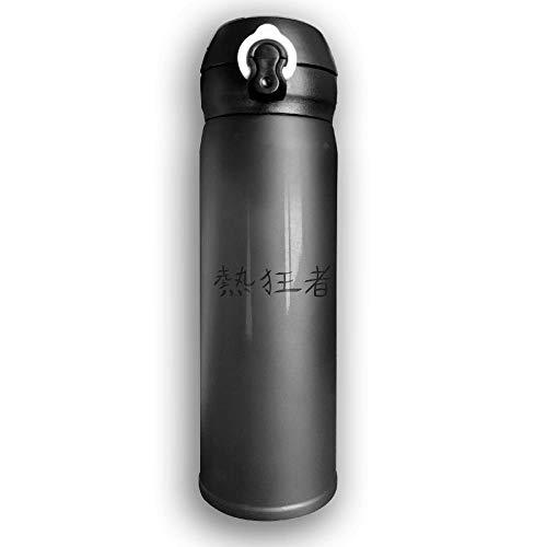 LZHANDA Thermosflasche,Vakuumisolierte Trinkflasche,Wasserflasche, Bounce Cover Custom Kanji Maniac,Leak-Proof Vaccum Cup,Travel Mug with Stainless Water Bottle,Sports Drinking Bottle Fashion -