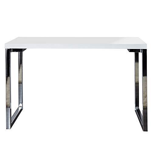 lounge-zone Laptoptisch Schreibtisch York Home Office Desk Bauhaus Design Tisch Chromgestell...