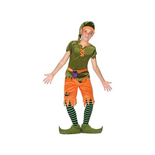 Goblin Kostüm - ATOSA 56914 COSTUME GOBLIN 7-9, Jungen, Grün/Orange, 7 a 9 años