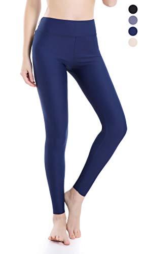 Wirezoll Damen Leggings Blinkdicht Yoga Leggings Fitnesshose, Blau, XL