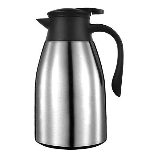 Isolierkanne 1L Thermoskanne 304 Edelstahl Doppelwand Vakuum Isolierte Kaffee Topf kaffeekanne Thermos, Saft / Milch / Tee Isolierung Topf, Quick Tip Verschluss -