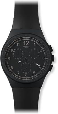 Swatch SUSB400 - Reloj cronógrafo de Cuarzo Unisex con Correa de Silicona, Color Negro de Swatch