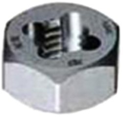 Gyros 92-91412 Metric Carbon Steel Hex Rethreading Die, 14mm x 1.25 Pitch by Gyros Tools -