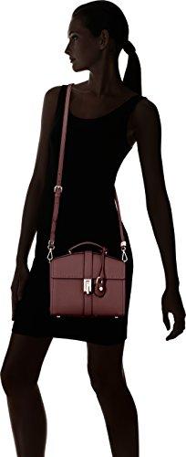Trussardi Jeans 75b00162-1y000031, Borsa a Mano Donna, 12 x 26 x 25 cm (W x H x L) Rosso (Bordeaux)