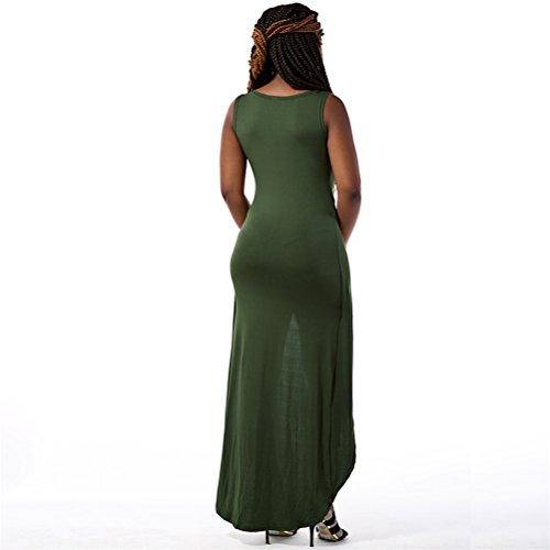 Femmes Sexy Deep V-cou manches longues robe de nuit Clubwear Clubwear Jumpsuit Vert