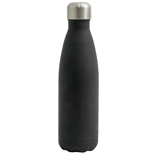 NORDAL · 1846 Isolierflasche 500ml 26cm · schwarz silber