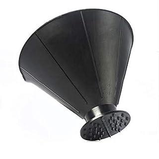 Lukiny Lukiny-073 Cone Wind Shield Ice Scraper Cone Scrape Ice Scraper A Round Snow Shovel Funnel Tool for Car Snow Removal - Black