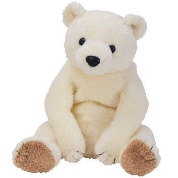 TY*BEANIE BABY*CHILI* Bär/TEDDY weiß-beige*Plüschtier ca. 20 cm (Baby Ty Beanie Bär)