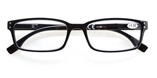 Eyekepper qualità molla Cerniere Half-Rim occhiali da lettura Black +1.25 fMvojFBGPF
