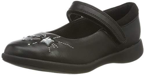 Clarks Etch Spark K, Sandalias Punta Cerrada para Niñas, Negro Black Leather, 28 EU