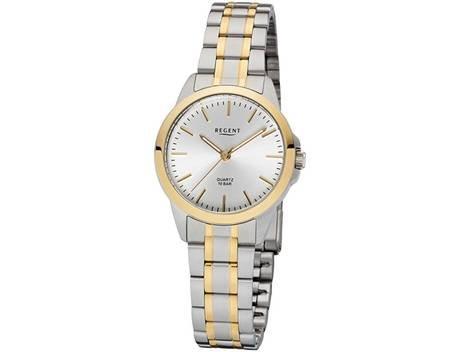 REGENT Uhr - Damenuhr bicolor mit Stahlband 10 Bar - F1005