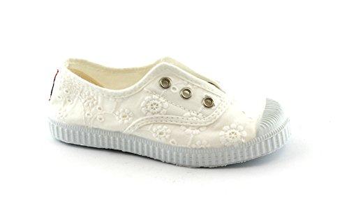 Cienta 70998 Blanc chaussures fille 21/27 tissu élastique