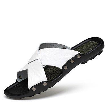 RTRY Pantofole Unisex &Amp; Flip-Flops Comfort Vacchetta Primavera Estate Outdoor Abbigliamento Scarpe A Monte Comfort Marrone Chiaro Bianco Nero 1A-1 3/4In US9 / EU40 / UK7 / CN41