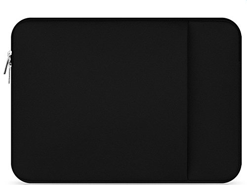 Daorier Housse PC Portable Sac Pochette Ordinateur Portable Zipper Cas pour MacBook Pro/MacBook Air Noir 12 Pouces Noir