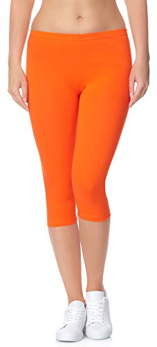 Ladeheid Damen Leggings 3/4 LAMA01 (Orange24, 4XL/5XL (Herstellergröße: 48/50))