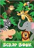 PACK OF 3 - Children's Jungle Scrap Book (CB503) 24 Colour Pages
