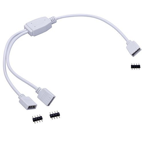 emeskymall-2pcs-led-rgb-color-changing-strip-4-pin-splitter-1-to-2-female-connector-cable-by-esky-ma