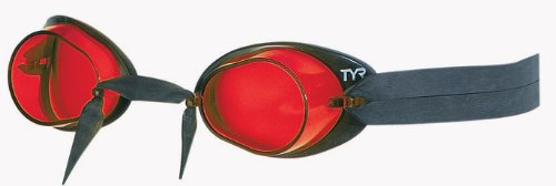 TYR Erwachsene Schwimmbrille Socket Rocket 2.0, Rot, One Size, LGL2610
