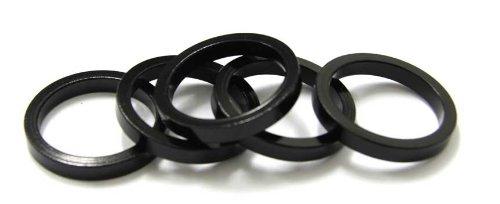 MSC Bikes MSC Alu 5 mm (5Uni) - Espaciadores dirección de ciclismo, color negro