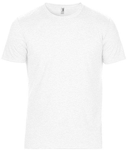 Amboss Erwachsene Tri Blend Tee rund Neck Half Sleeve Semi ausgestattet Casual Wear T-Shirt Weiß - Weiß