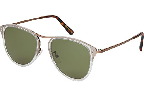 Toms Franco Vintage 10011364 Herren Crystal Frame Flasche Grün Spiegel Wrap Sonnenbrille
