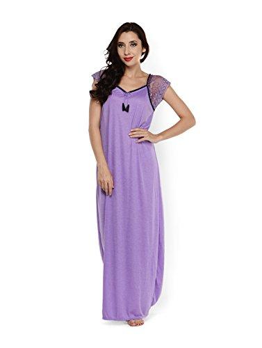 Klamotten Womens Cotton Nightwear ,Purple ,Free Size
