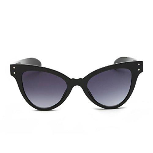 Trada Sonnenbrillen, Neutral Cat Eye Sonnenbrille Retro Herz Rahmen UV400 Brillen Mode Damen Herrenbrillen Frauen Retro Vintage Brille Nachtsichtbrille Eyewear Travel Sonnenbrillen (Schwarz)