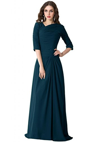 Sunvary Mother of the Bride, stile Vintage per vestiti in Chiffon con mezza manica Navy blue