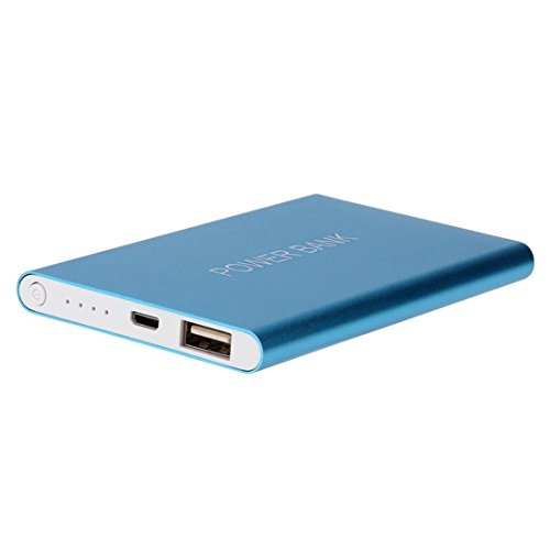 Mp3-player Case Pack (Neuer Ersatzakku Schnelles Aufladen, Bescita Ultradünn 12000 mAh Tragbarer Externer USB Akku Ladegerät Power Bank für iPhone/iPad & Samsung und andere Handys., blau)