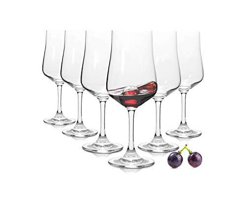 Tivoli cuvee bicchieri da vino rosso - set di 6-330 ml - lavabili in lavastoviglie - made in turchia-