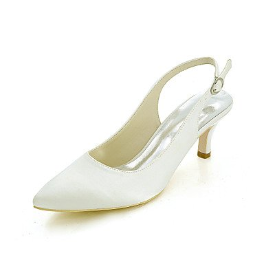 Wuyulunbi @ Shoes Mujer Satén Primavera Verano Bomba Base Boda Zapatos Punta Para La Fiesta De Bodas Y La Noche Un Champagne Blue Red Fuchsia A