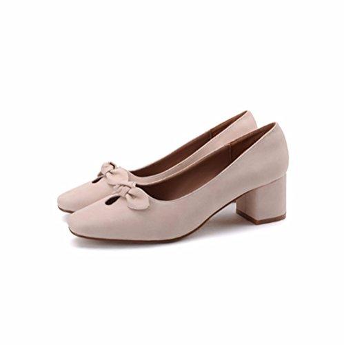FLYRCX Ladies' cava, sexy, alta scarpe con tacco, semplice moda dimensione europea: 34-39,36 35