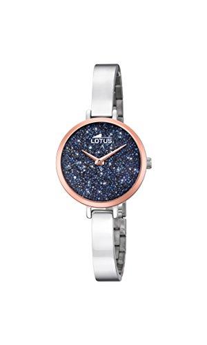 Lotus Watches Reloj Análogo clásico para Mujer de Cuarzo con Correa en Acero Inoxidable 18563/2