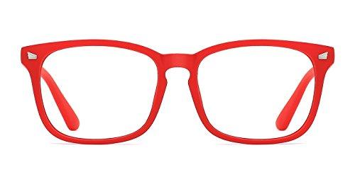 TIJN Occhiali da vista Retro Square Frame Occhiali da vista Occhiali da vista senza montatura con lenti trasparenti per donna Uomo