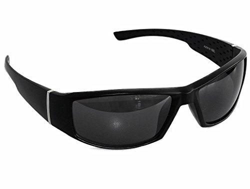 Sonnenbrille Gangster Style Motorradbrille Radbrille Sportlicher Look (Gangster Schwarz (Gangster Look)