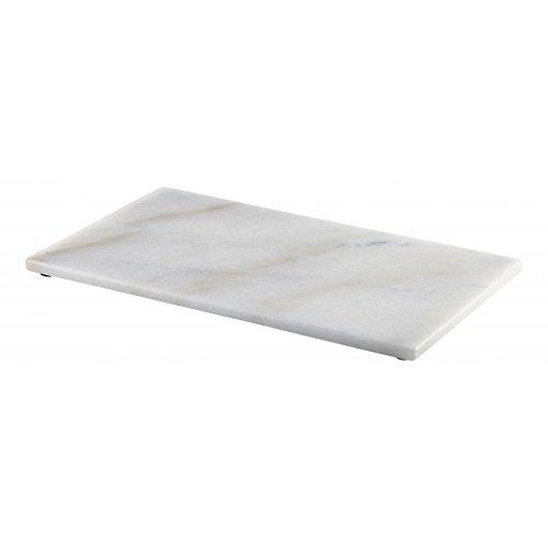 Genware Marbre Blanc rectangulaire Plateau GN 1/3–32 cm x 18 cm