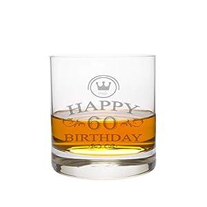 Whiskeyglas Leonardo mit 60 Jahre Gravur - Geburtstag Geschenk Geschenkidee Whisky-Glas graviert