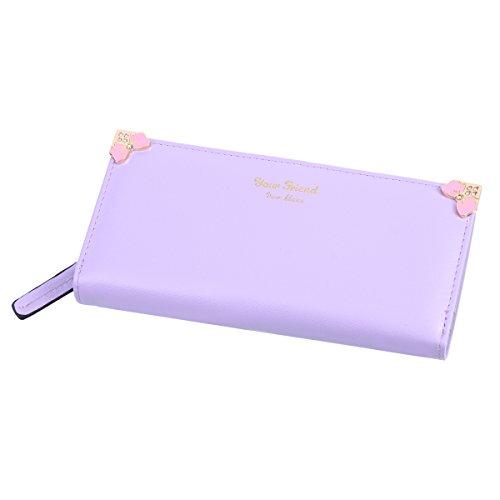 Damara fiocco in finta pelle a portafoglio borsa Purple