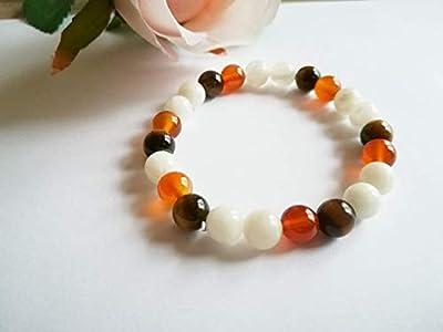bracelet pierre de lune, bracelet oeil de tigre, bracelet femme, cadeau noel pour elle