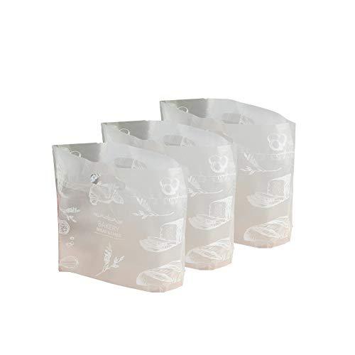 Ruiting Einweg-Einkaufstasche 50Pcs Kunststoff Bäckerei Beutel Dessert-Verpackungs-Beutel-Brot-Laib-Tasche Tragen (Brot-taschen Aus Kunststoff)