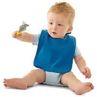dea-concept babero infantil - personalizable con nombre - algodón organico - claro