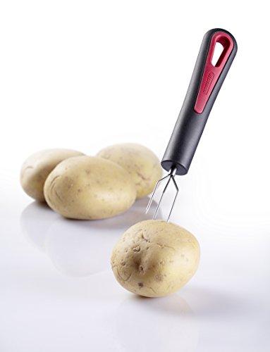 Westmark 29142270 Gallant-Forchetta da patate PP/silicone/acciaio Inox, colore: nero/rosso, 16,3 x 2,7 x 2 cm